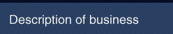 Description of business